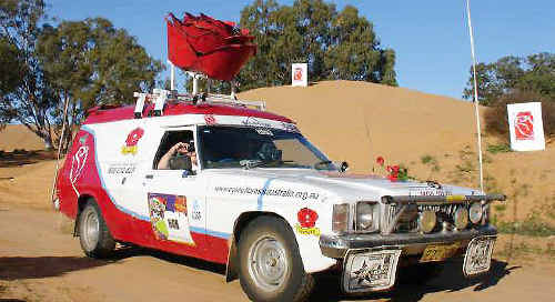 'Rosie', the official Cystic Fibrosis Australia rally car, is driven by Cystic Fibrosis CEO Terry Stewart each year.